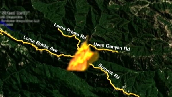 Wildfire in Santa Cruz Mountains near Summit Road | abc30.com
