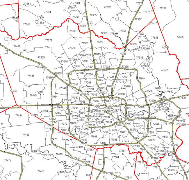 houston tx zip codes map – bnhspine.com