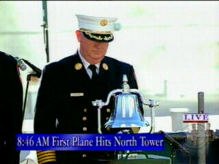 "<div class=""meta image-caption""><div class=""origin-logo origin-image ""><span></span></div><span class=""caption-text"">A bell is rung at 8:46 a.m., the moment the first plane struck the North Tower.</span></div>"
