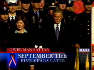 "<div class=""meta ""><span class=""caption-text "">President and Mrs. Bush, just before the reading of the names begins.</span></div>"