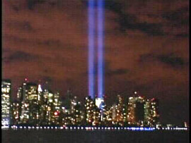 "<div class=""meta ""><span class=""caption-text "">(New York-WABC, September 11, 2006) Night fell on New York City after a day of ceremonies marking the fifth anniversary of the September 11th attacks and the fallen victims were honored with a 'Tribute in Light"" above ground zero.   </span></div>"
