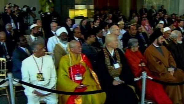 "Representatives of other faiths celebrated the theme, ""Peace Our Hope."""