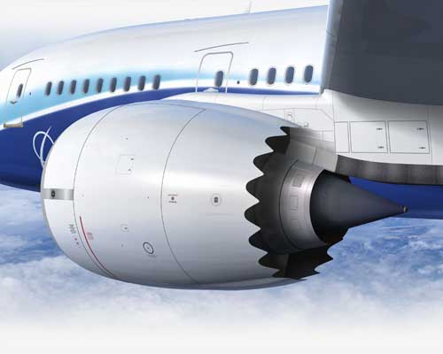 Dreamliner's engine-- Courtesy of Boeing